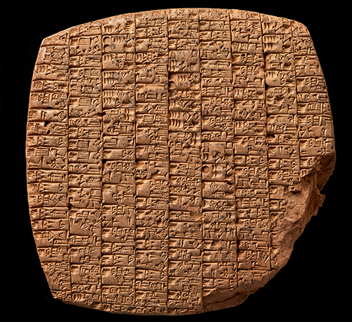 Rock with cuneiform writing. Photo: Søren Greve and Troels Pank Arbøll